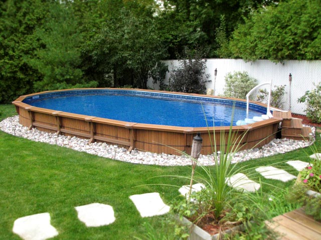 Semi Inground Pool Pictures Joy Studio Design Gallery Best Design