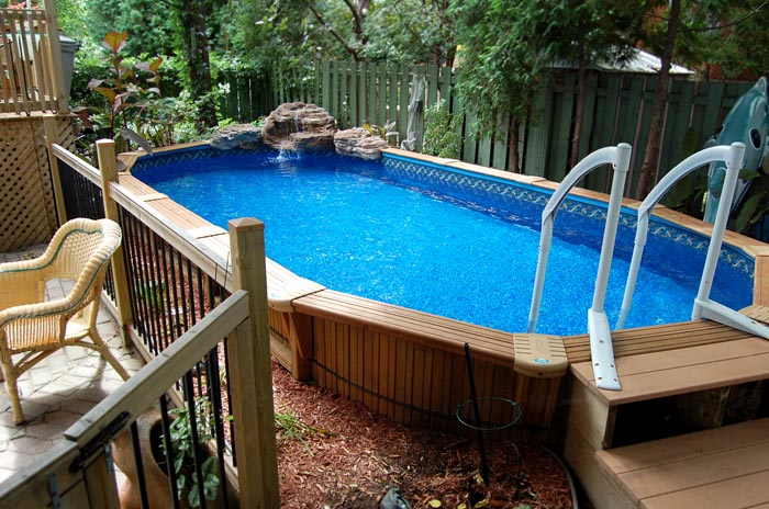 Semi Inground Pools Oval Gallery Jmd Pools Quality
