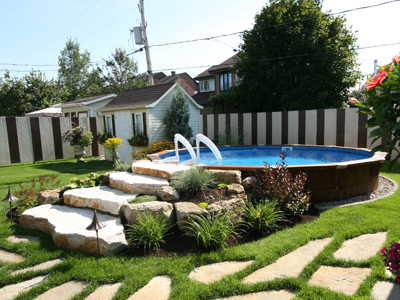 Semi Inground Pools Round Gallery Jmd Pools Quality