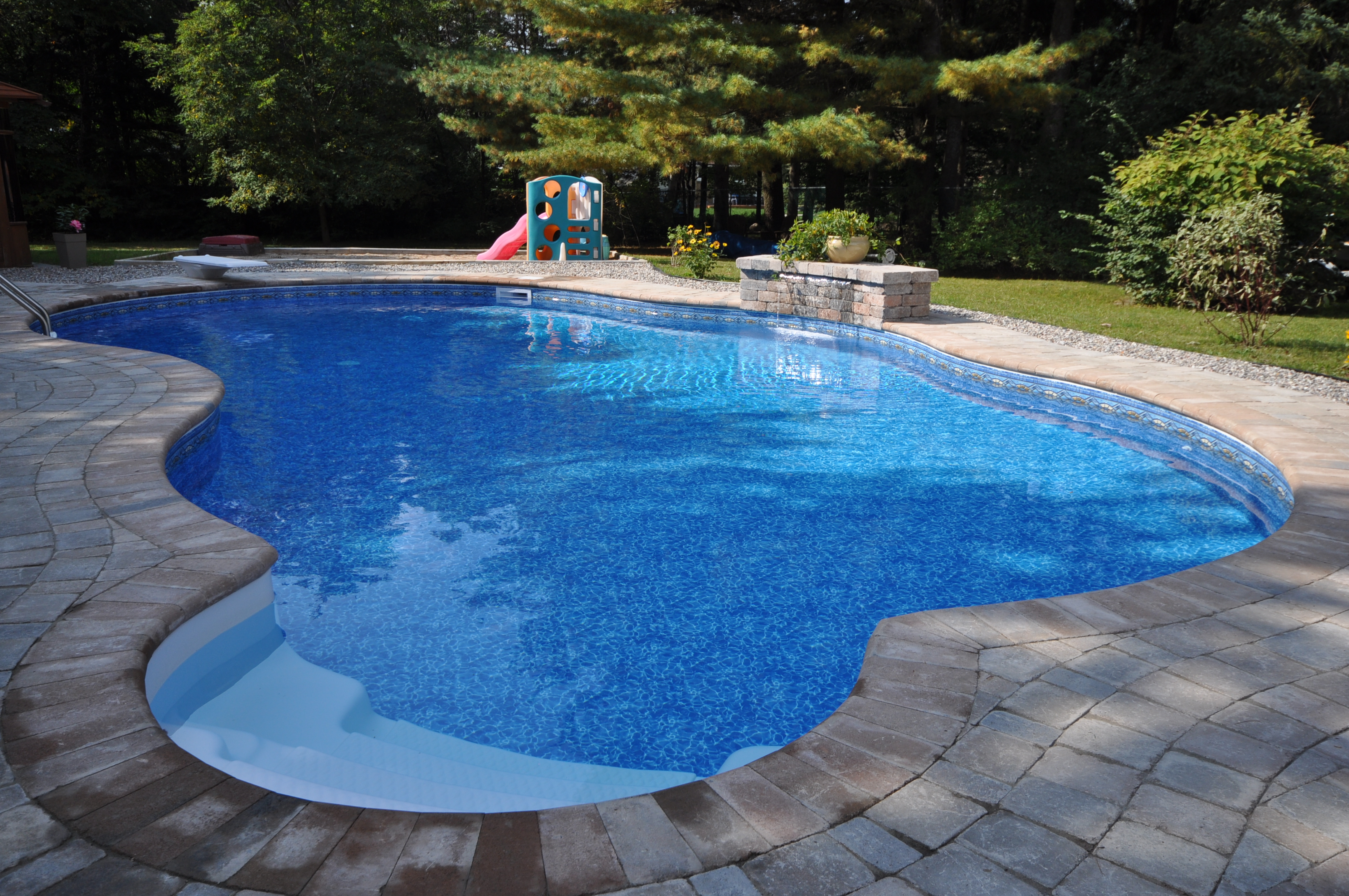 Inground pools gallery jmd pools quality design for for Quality pool design